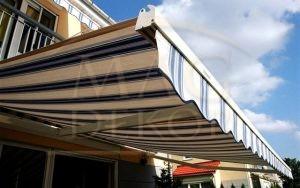 Za dobijanje kvalitetnog hlada tende sprečavaju ulazak topline u vaš prostor. Izrađuju se od duplo inpregniranog platna, Italijanske firme Para.